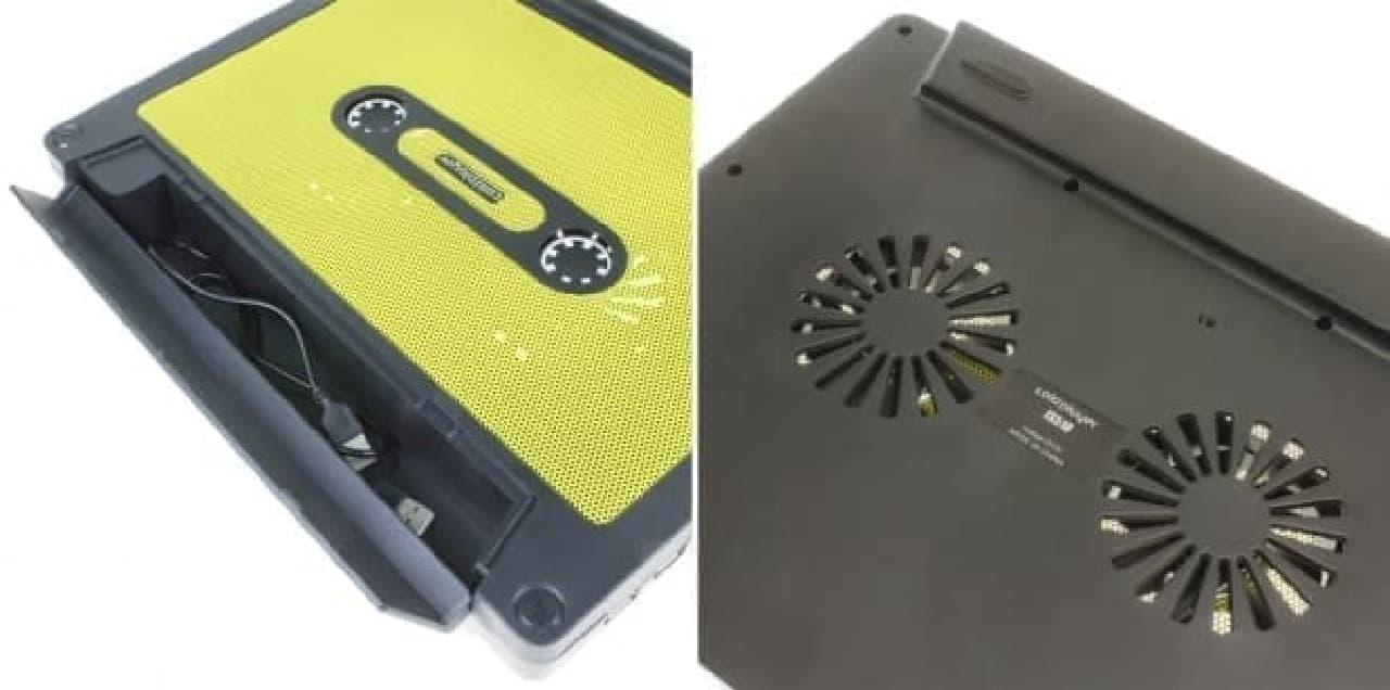カセットテープ型PCクーラーの側面と背面