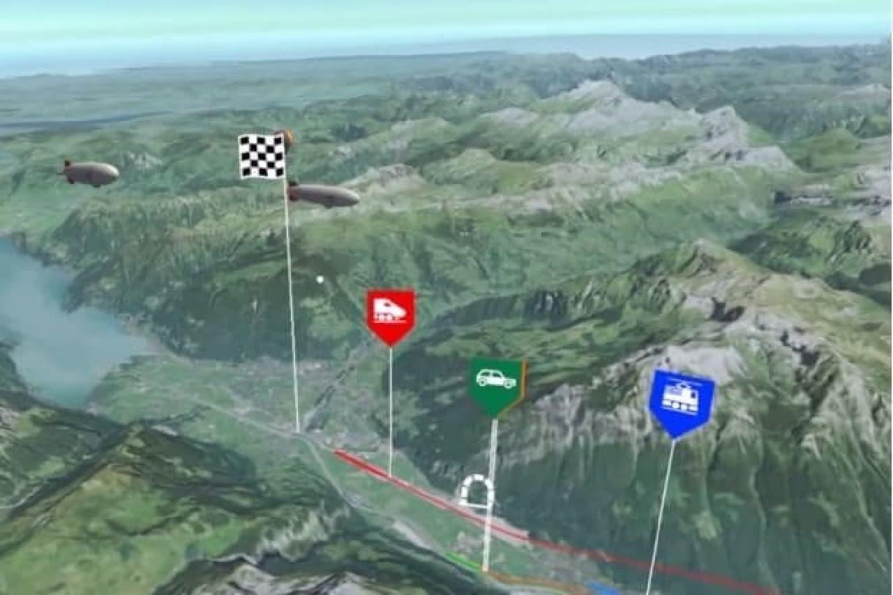 VRで表示したゴッタルド基底トンネルの概要