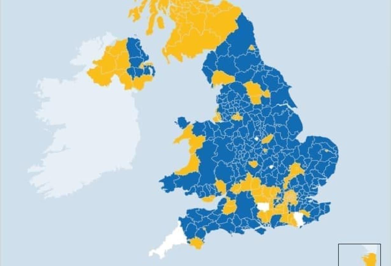 イングランドの離脱派勢力図