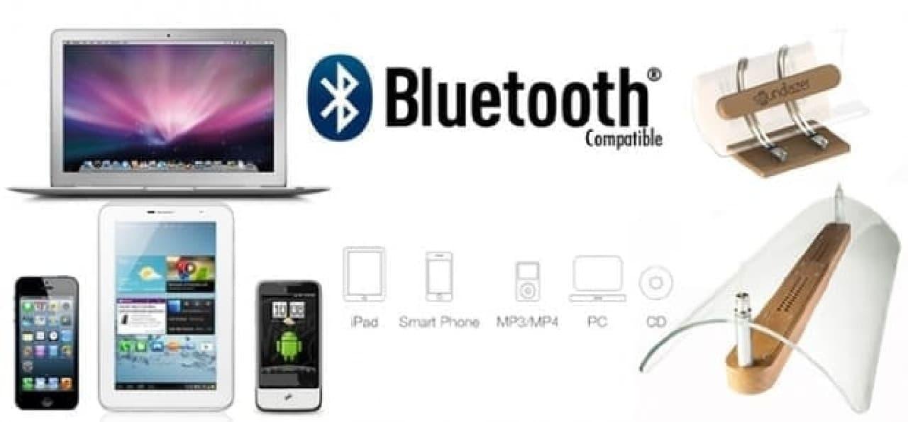 「Soundlazer VR」は、Bluetoothデバイスに対応