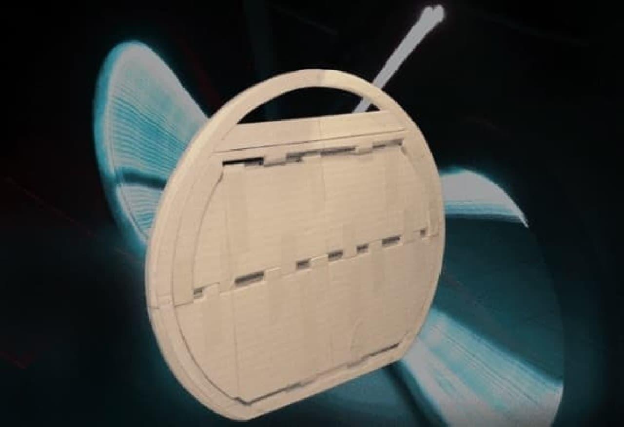 折り畳み式のバスケット「バタフライバスケット」