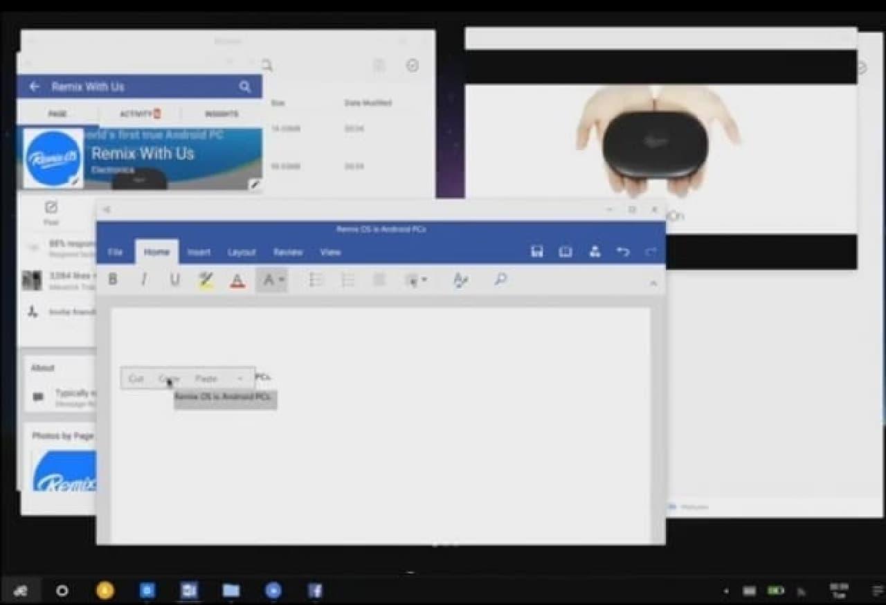 右クリックに対応したRemix OS 2.0