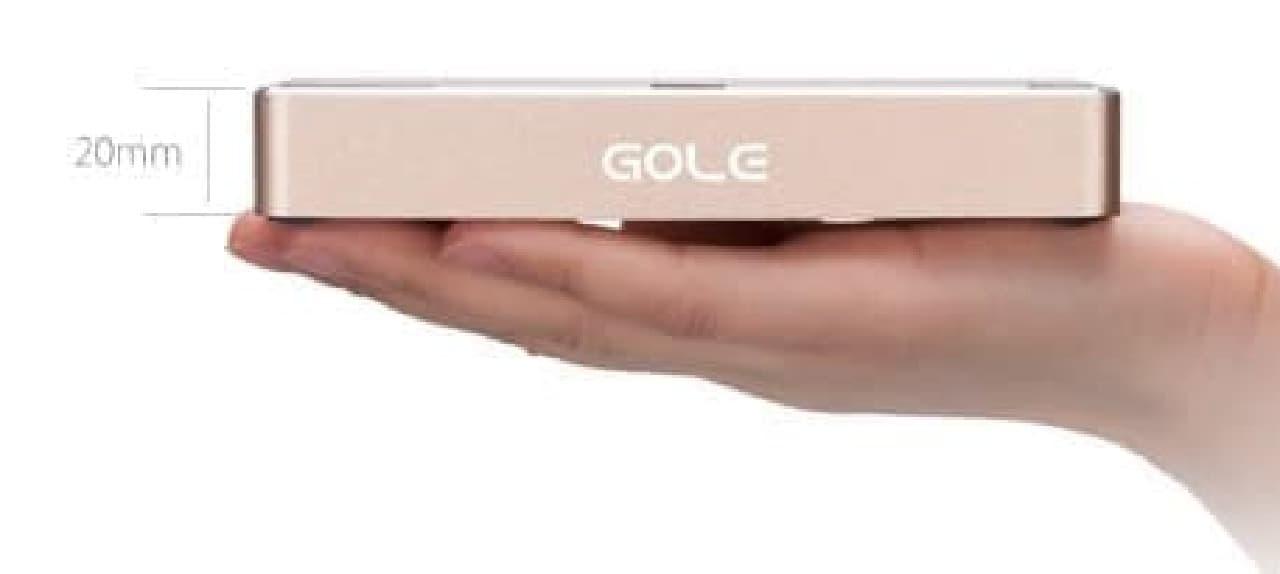 「Gole1」の重さは200グラム