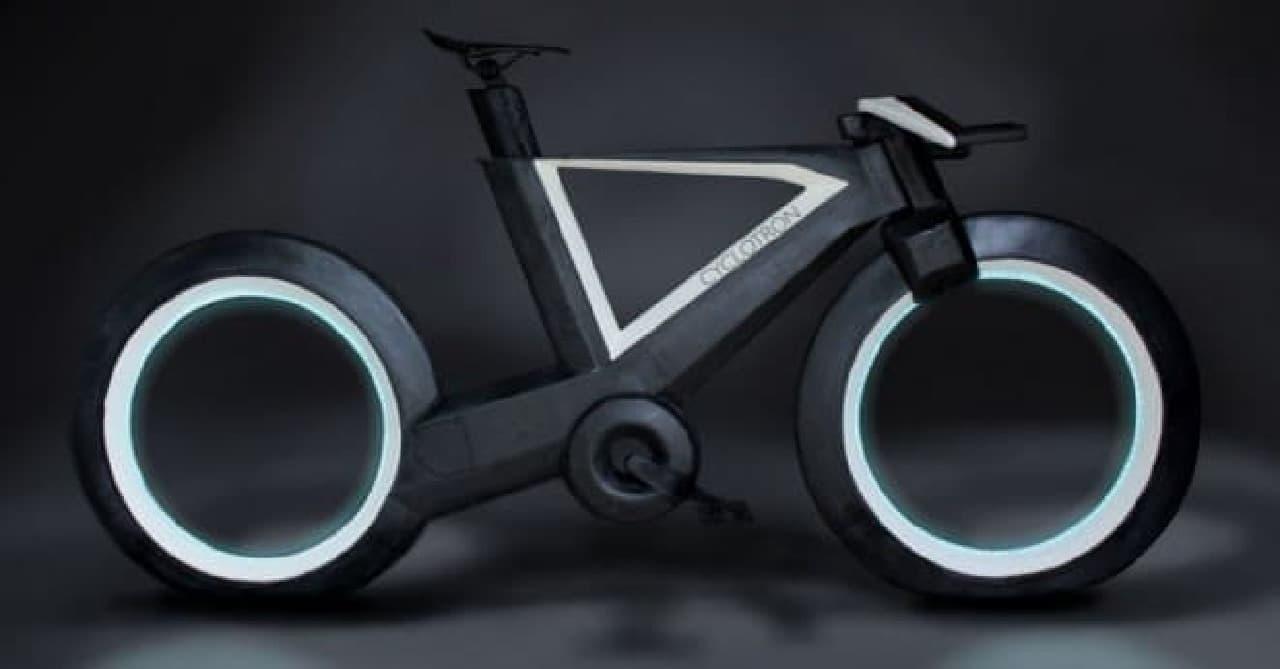 『トロン:レガシー』の「ライトサイクル」みたいな自転車「CYCLOTRON BIKE」