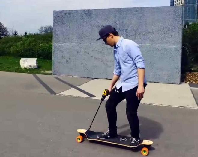 電動スケートボードを自作する「Cheap and Easy DIY Electric Skateboard」