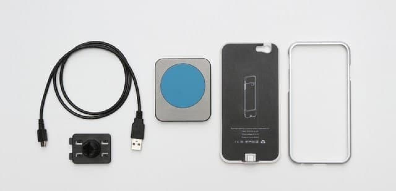 ワイヤレス充電ケースのセット内容