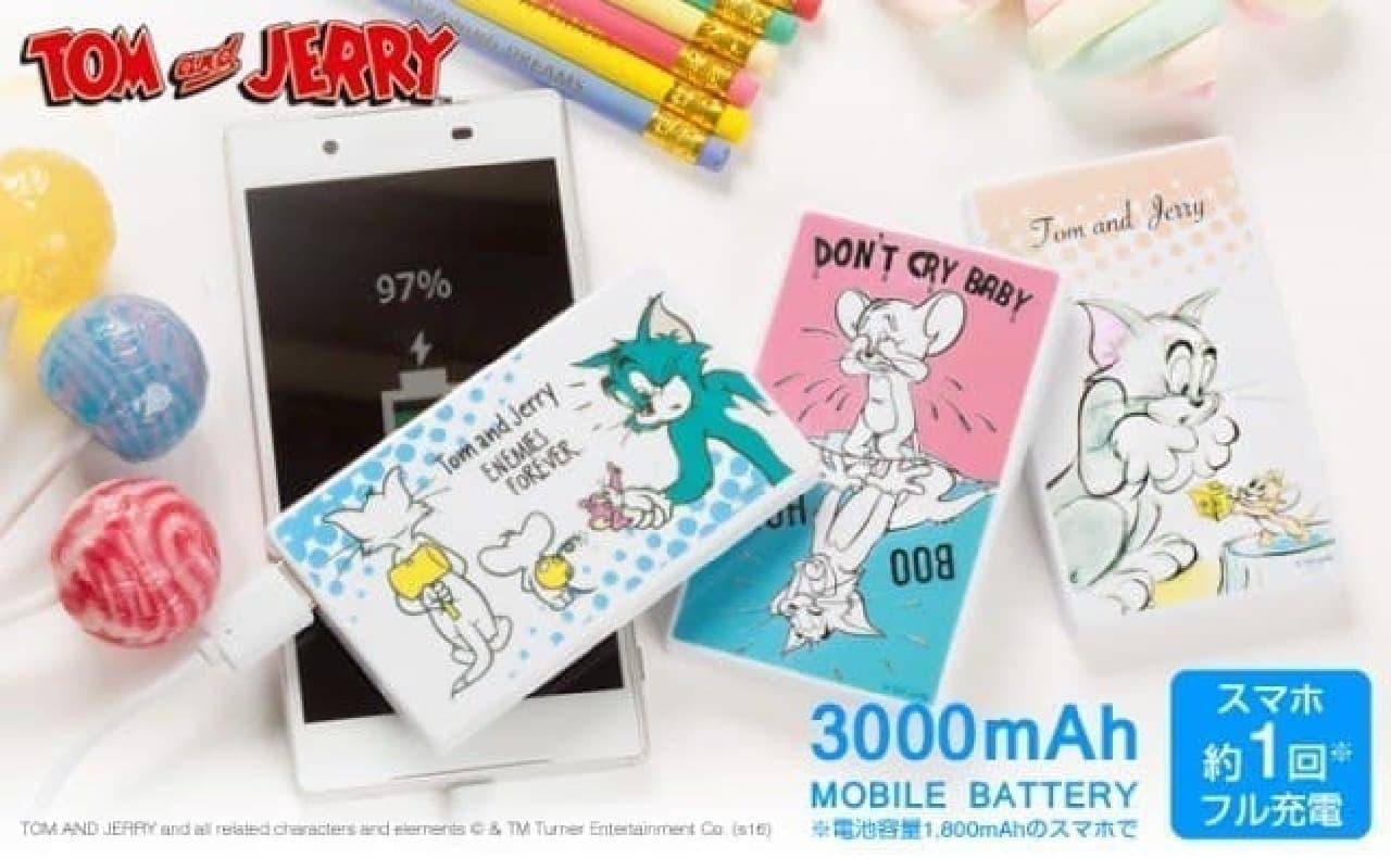Tom and Jerry/トムとジェリー/モバイル充電器3000mAh