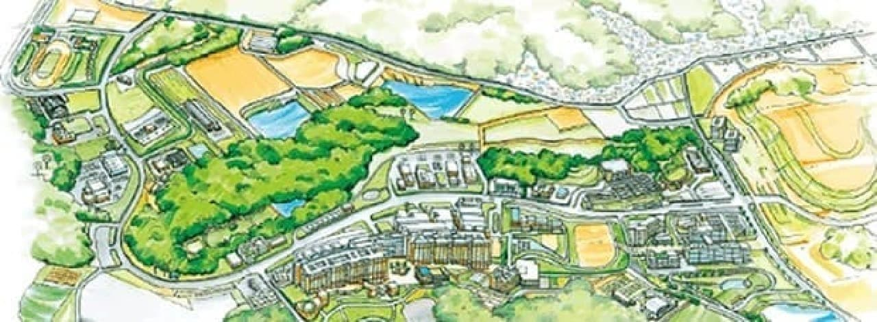 九州大学伊都キャンパス鳥瞰図