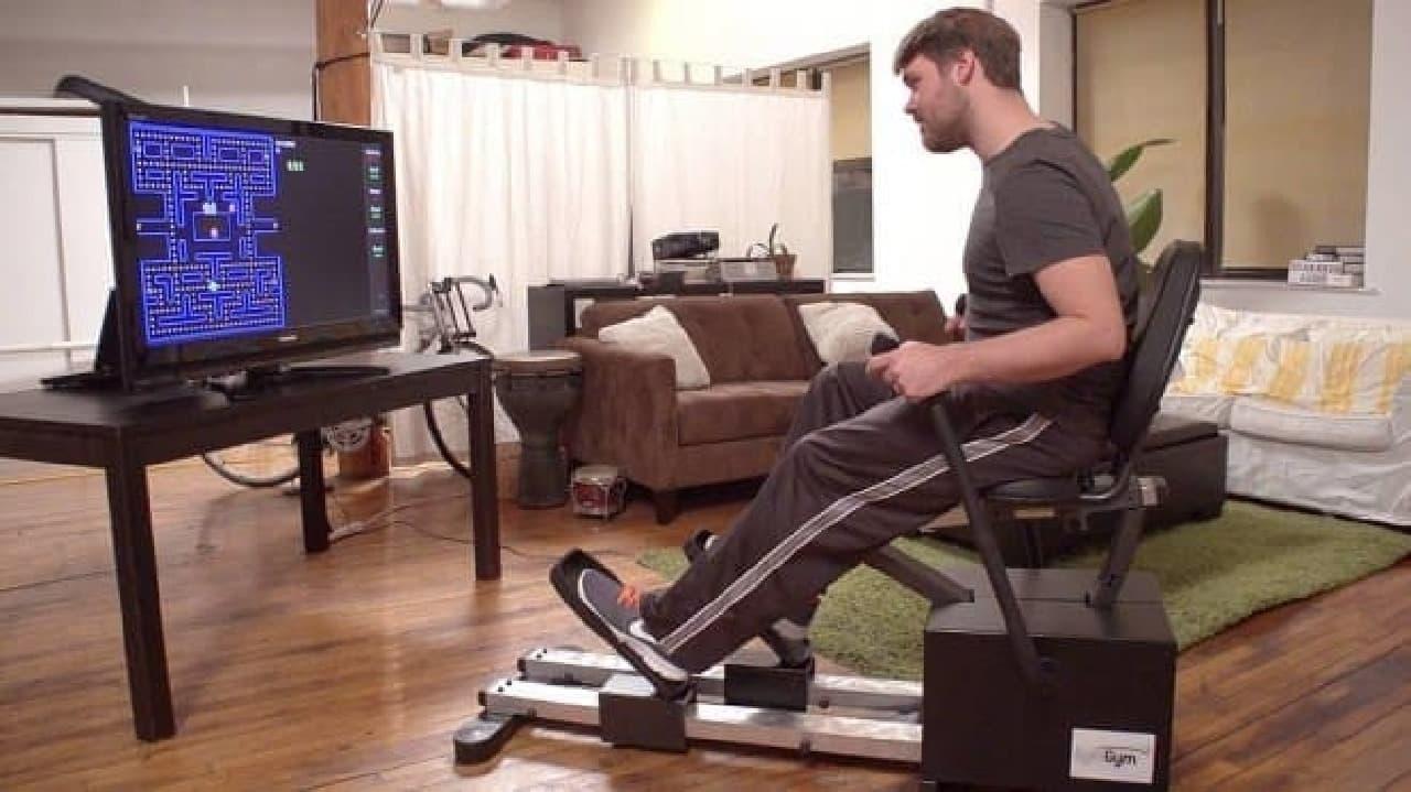 トレーニングマシン型のゲームコントローラー「SymGym」