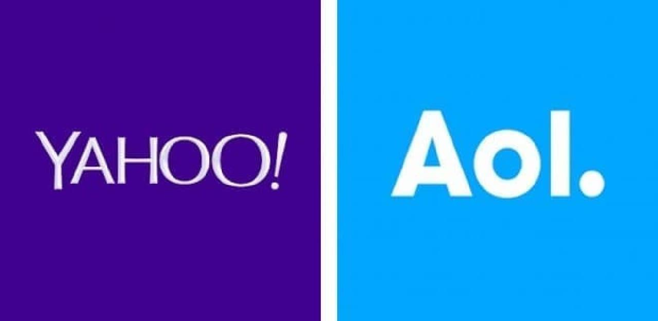 Yahoo!とAOLのロゴ