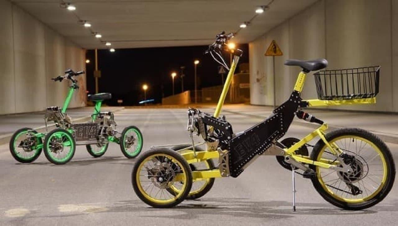 電動バイク「EV4」と、電動アシスト自転車「EV4 Bike」