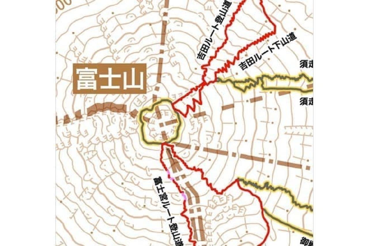 登山マップのサンプル