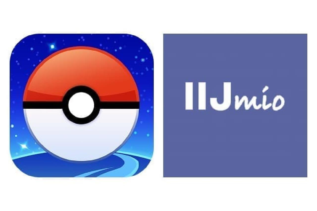ポケモンGOとIIJのアイコン