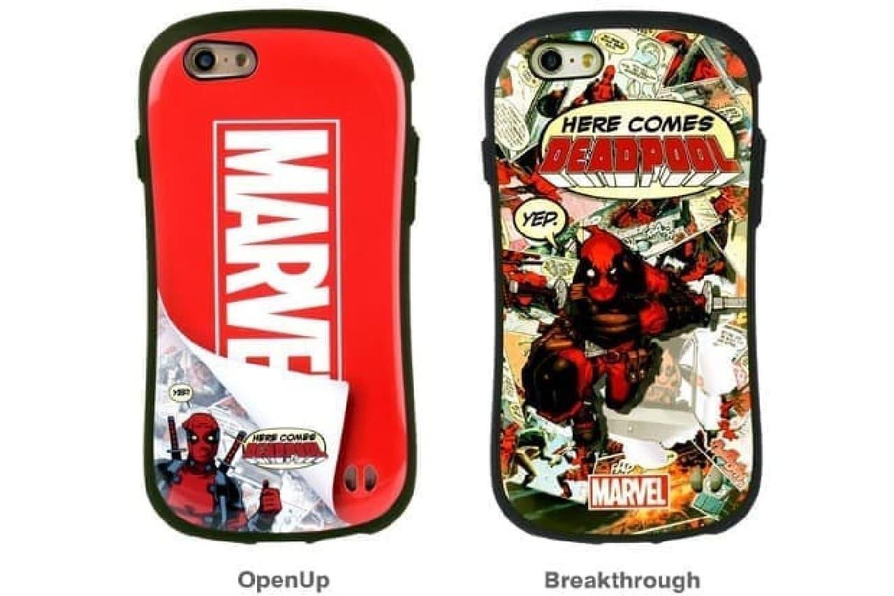 デッドプールデザインのiPhoneケース、2種類