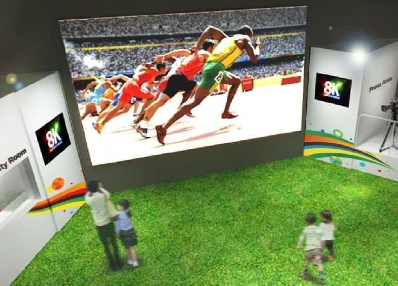 8K映像の表示イメージ