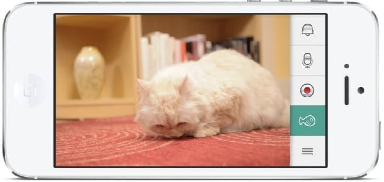 KITTYOのアプリ操作画面