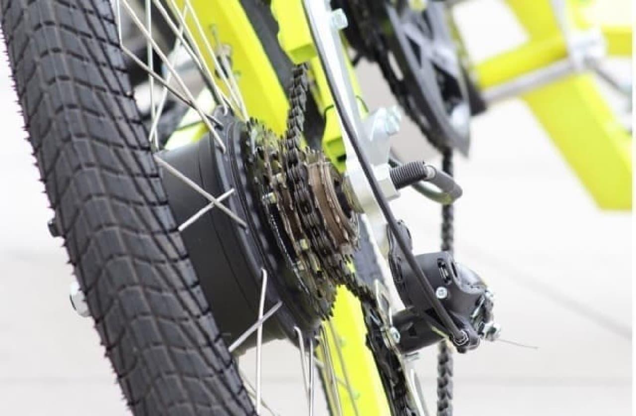 「EV4 Bike」ドライブトレイン