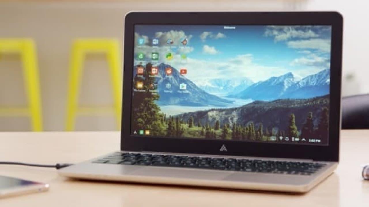 AndroidスマートフォンをノートPCに変換する「Superbook」