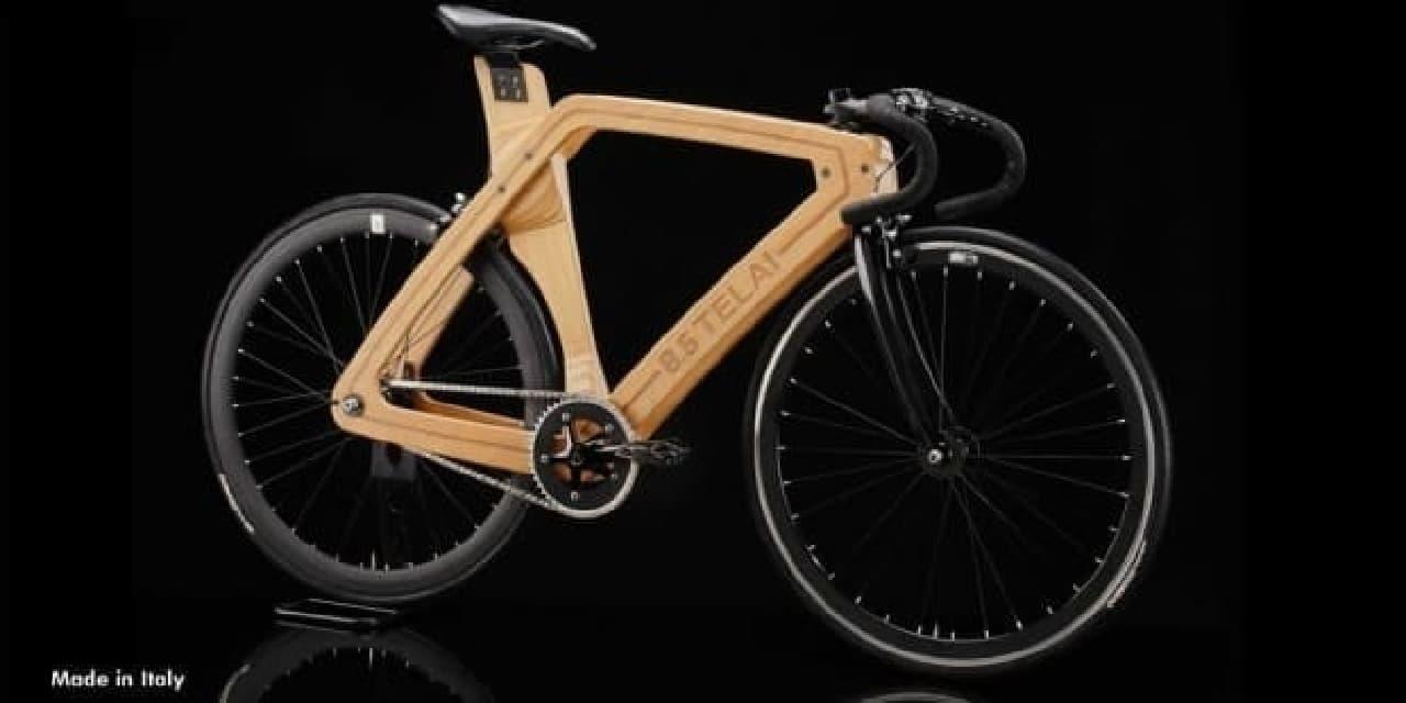 木製フレームの自転車「8.5 TELAI」