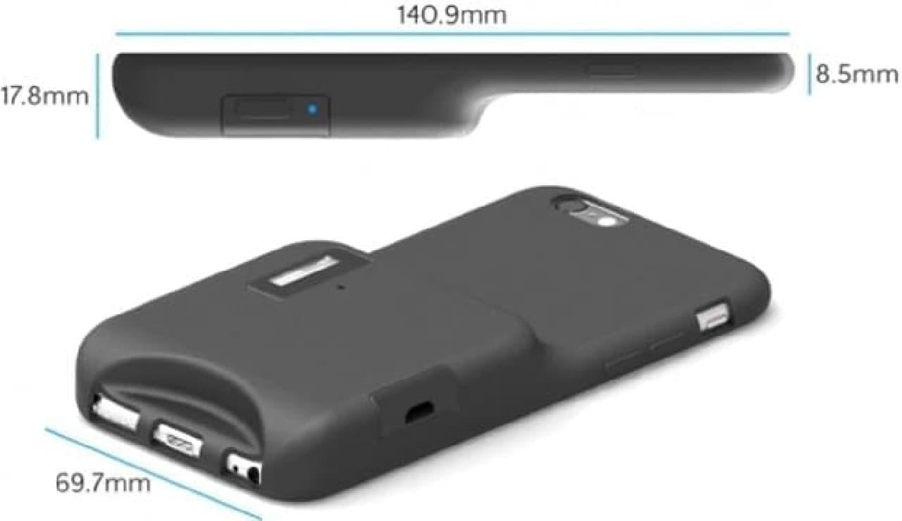 iphone用フラッシュケース「Capture Case」サイズ