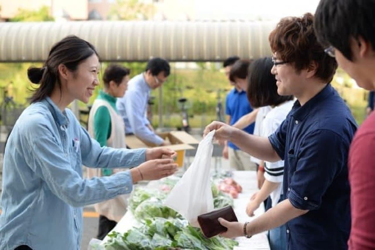 アマゾンが多治見に作った野菜の直売所