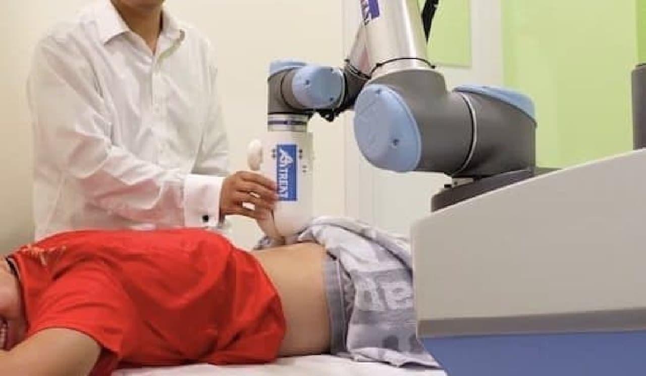 マッサージロボット「Emma」活用例画像
