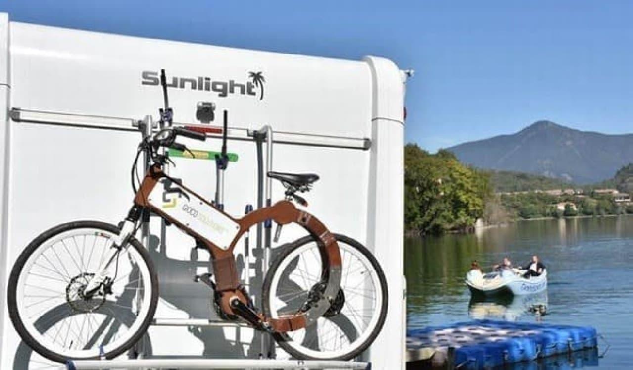 海水や潮風に強い「Wood Electric Bike(WEB)」