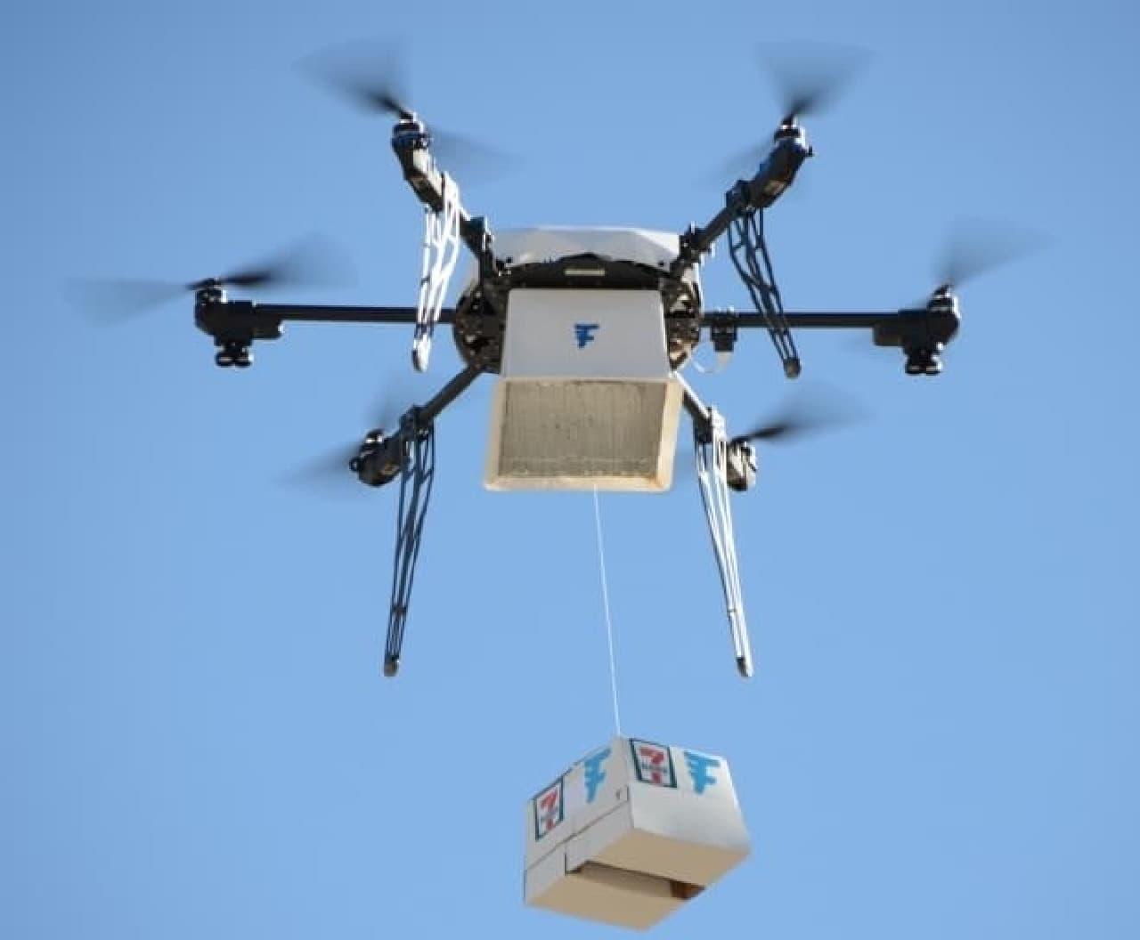 米国セブン‐イレブンが、ドローン宅配のテスト飛行に成功