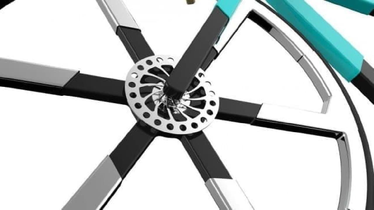バックパックに入る折り畳み自転車「ZED'O」