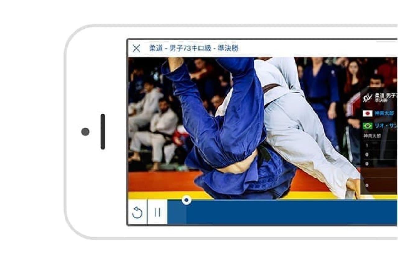 NHKスポーツのアプリ画面