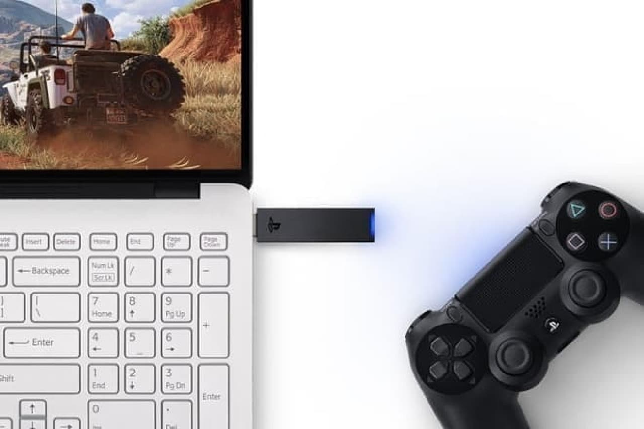 ノートPCで「プレステ」を遊ぶための機器
