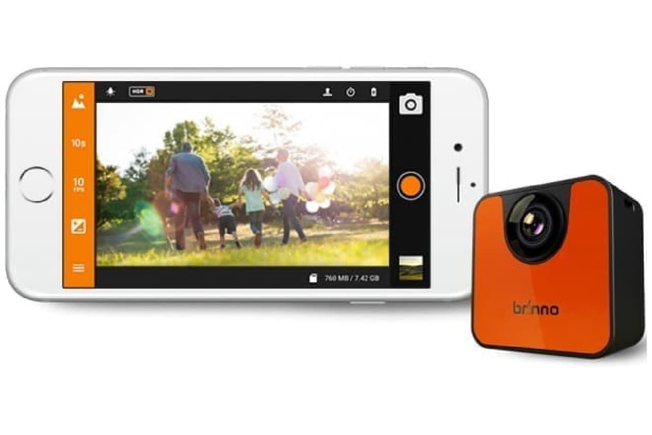 iPhoneとミニカメラ