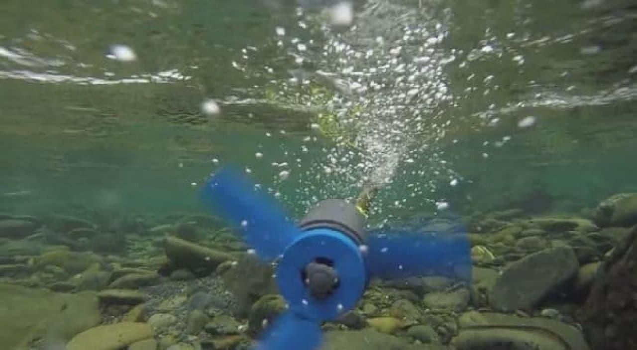 バックパックに入る水力発電装置「Estream」