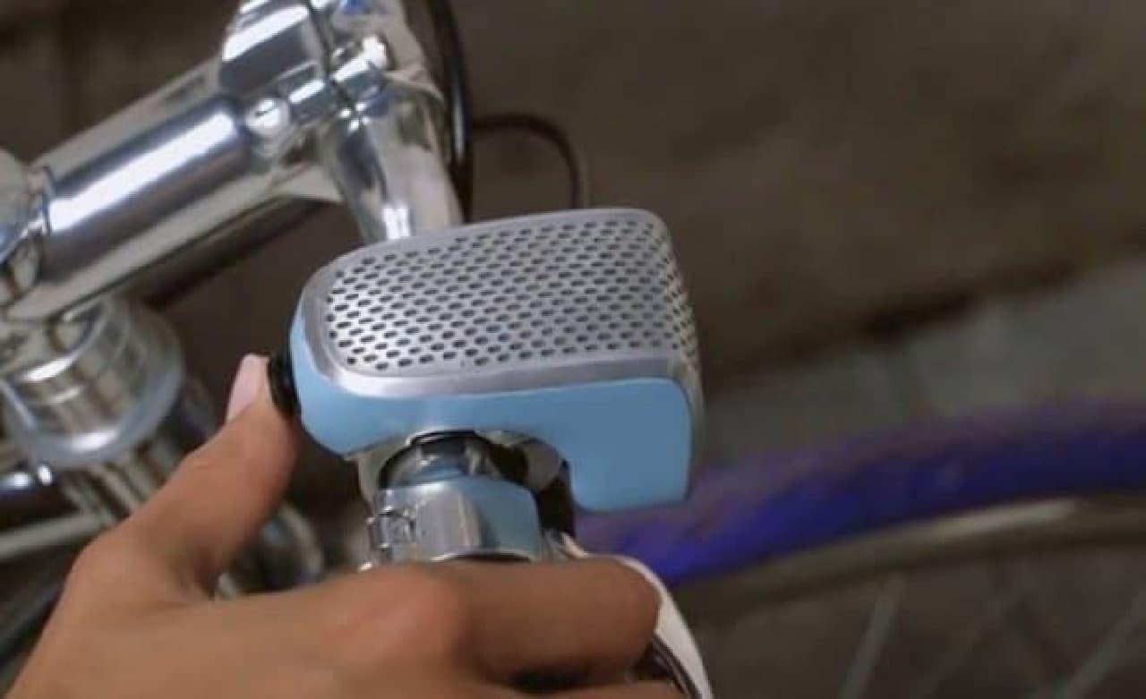自転車用ナビであり、ライトであり、盗難防止システムでもあるベル「Shoka Bell」