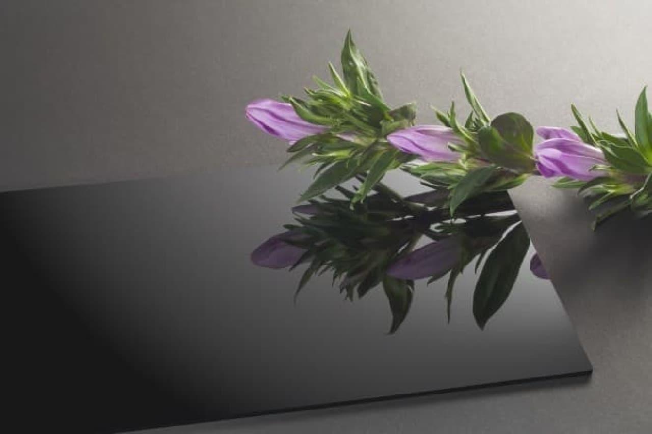 リンドウの花とバイオプラスチック