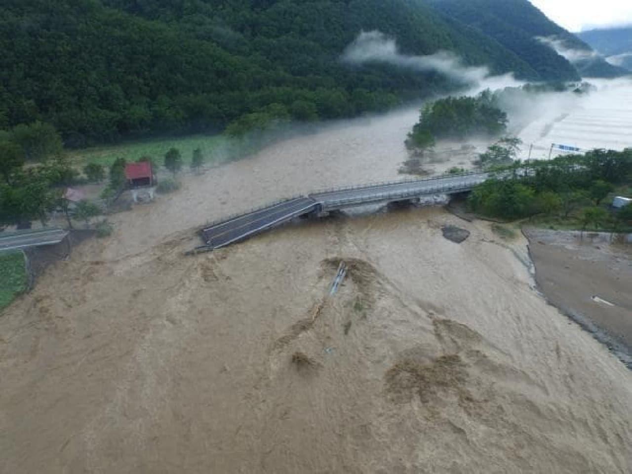 台風10号被災状況の写真