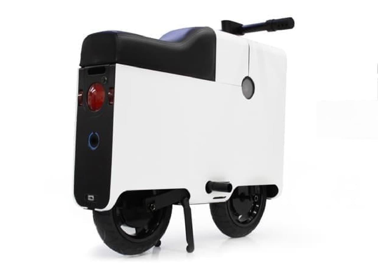 部屋の中に収納できる電動バイク「BOXX」