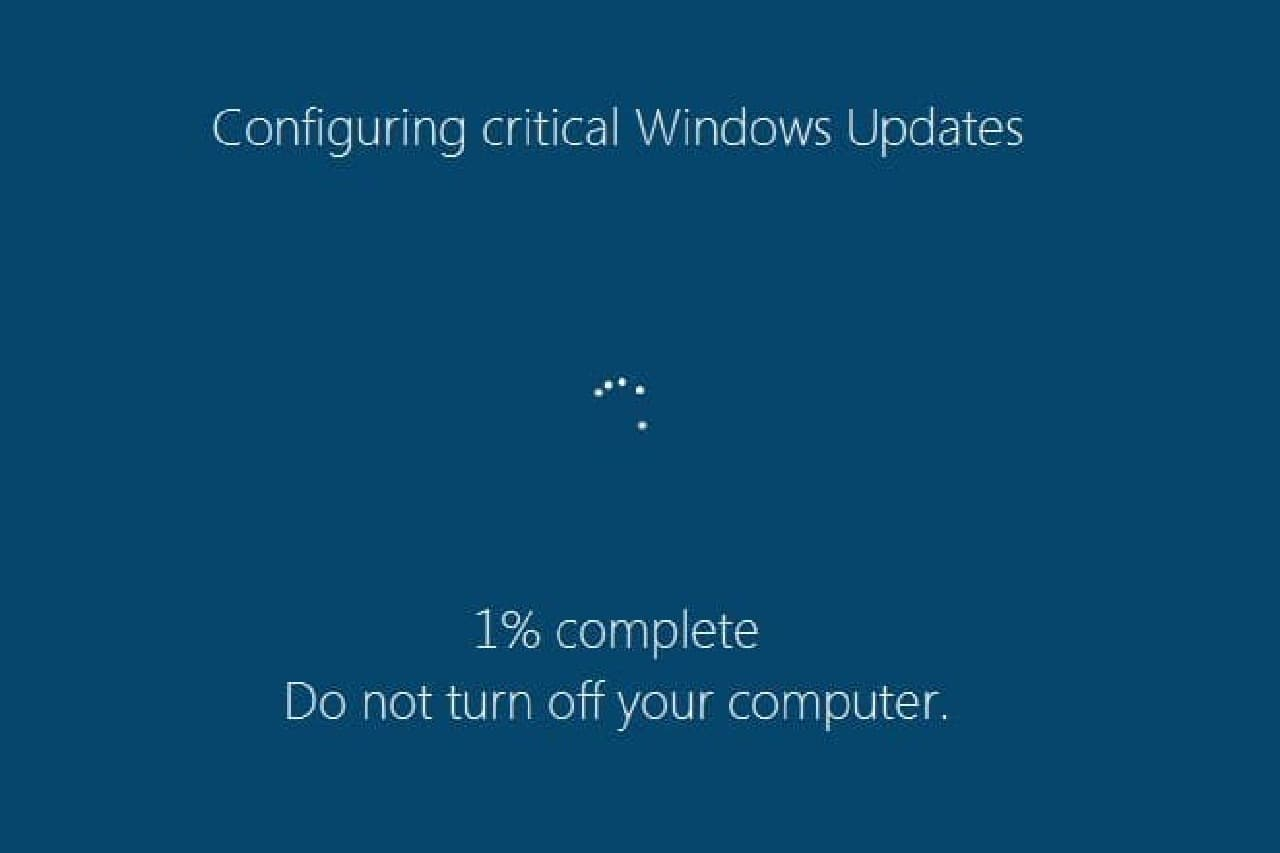 偽Windows Update画面