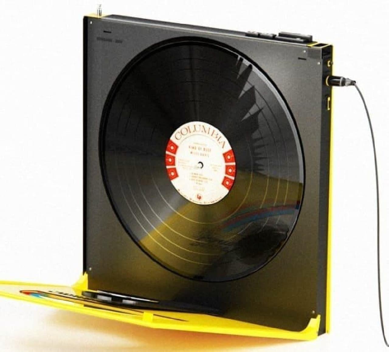 縦型ポータブルレコードプレーヤー「Rawman 3000」