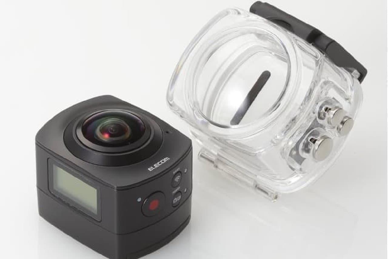 水中でも使える半天球カメラ