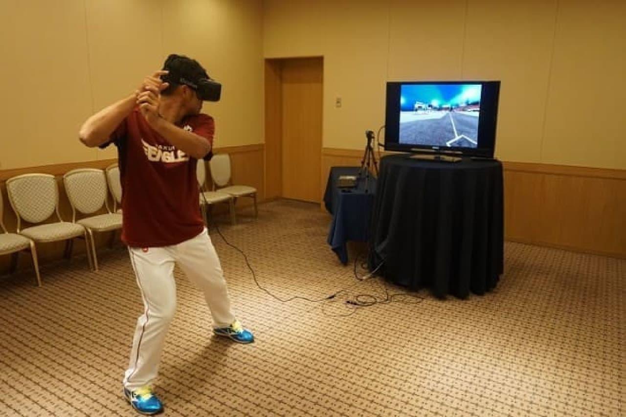 VRによるプロ野球選手のトレーニングシステム