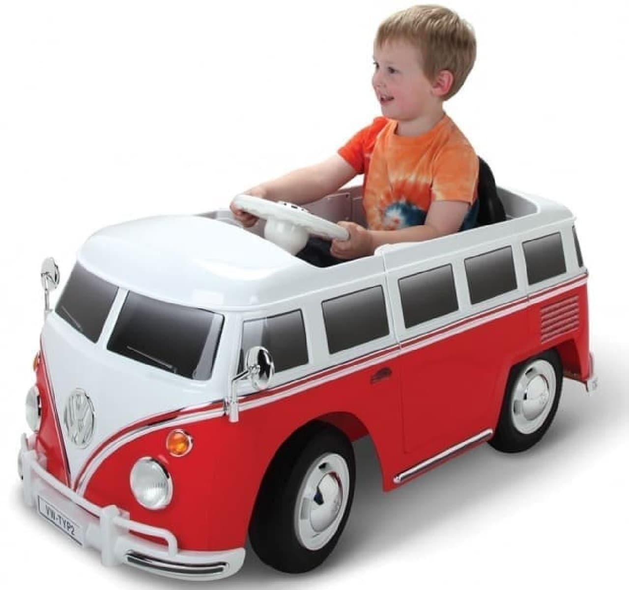 一人乗りの子ども用自動車「Volkswagen Bus」