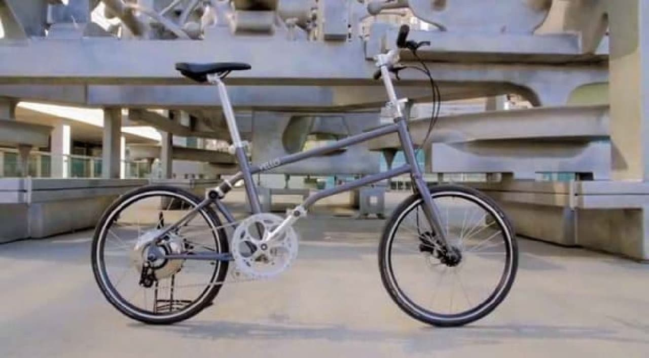 ほぼタイヤサイズになる電動アシスト自転車「VELLO BIKE+」