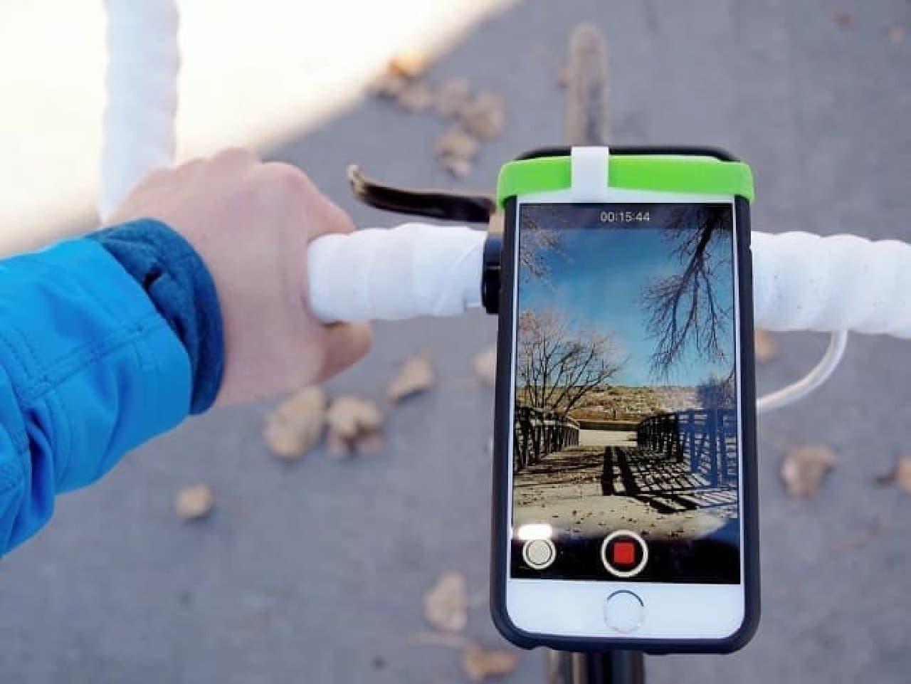 スマホを自転車用のドライブレコーダーにする「PRISMO」