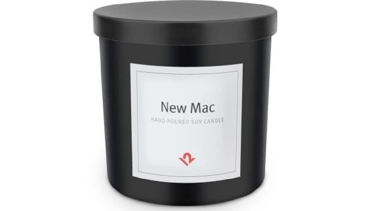 iPhoneやMacの箱を開けたときの匂いを再現するアロマキャンドル、「New Mac」