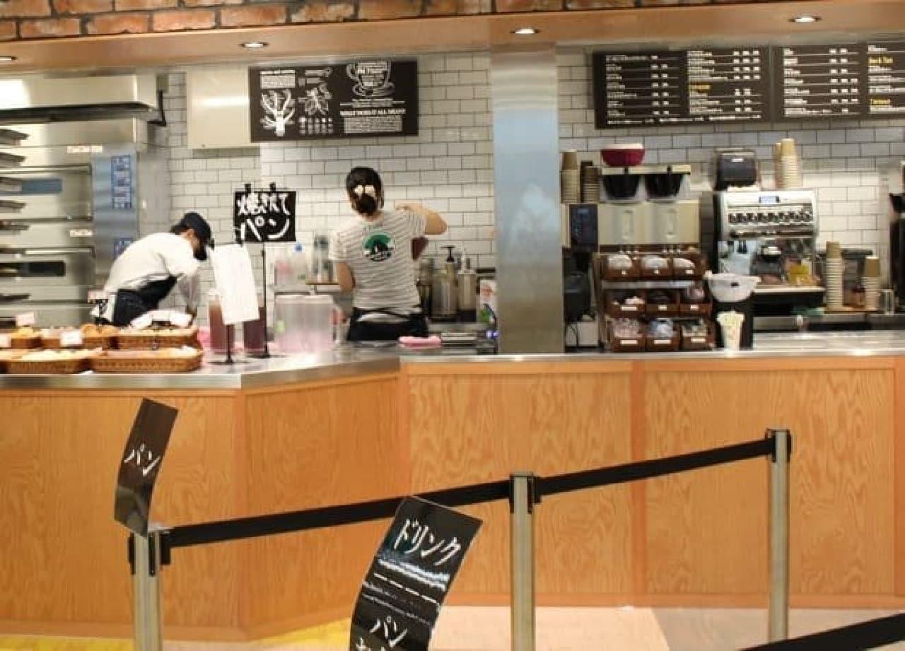 カフェコーナーの写真