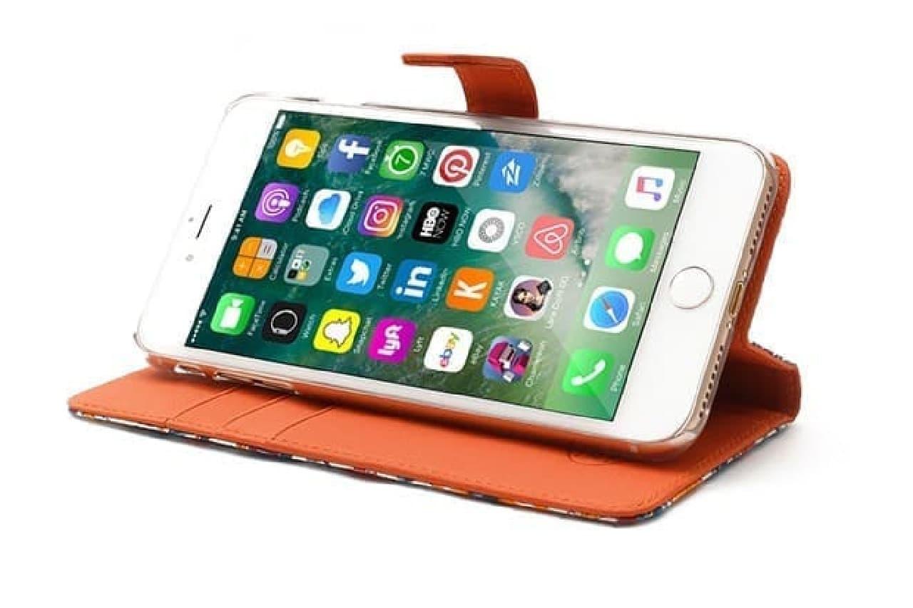 iPhone 7 Plus用ケースのスタンド機能