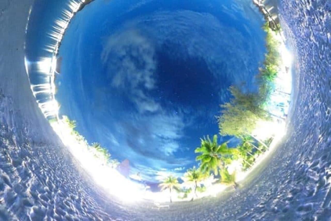 全天球を撮影した写真
