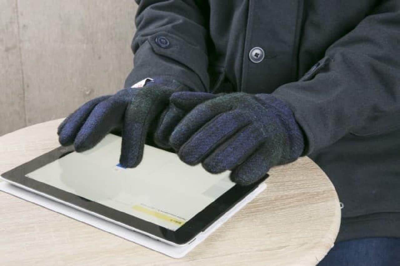 指を動かしやすい手袋