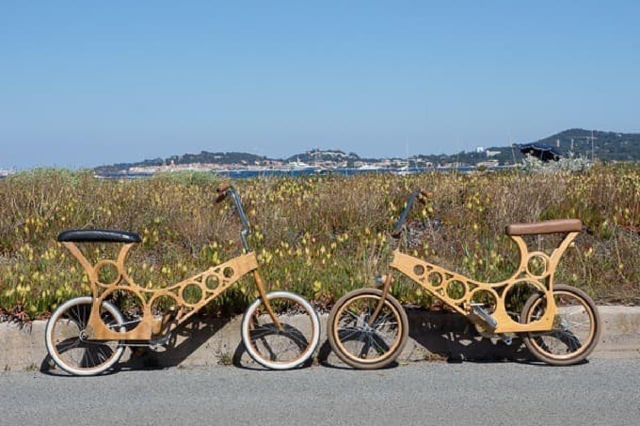 自転車用木製キャンパーと木製自転車を手作りできるWooden Widgetの「Hoopy」と「Foldavan」